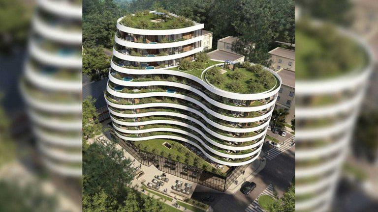 "Residential & business building ,,Royal Garden """