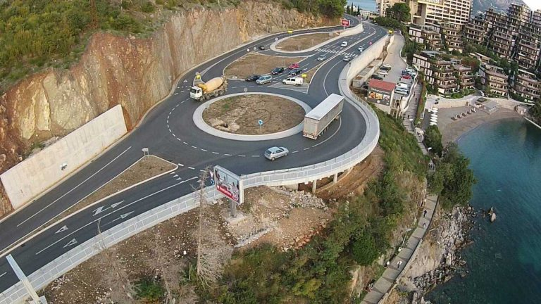 Reconstruction works on the part of the main road M-2, intersection Budva-Cetinje-Bečići