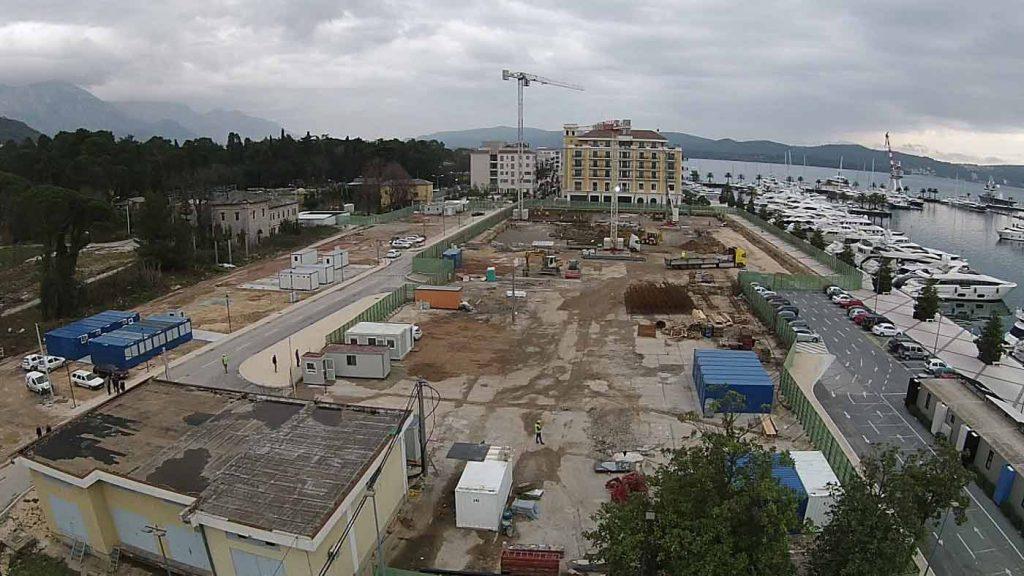 Vazdusni prikaz projekta u izgradnji