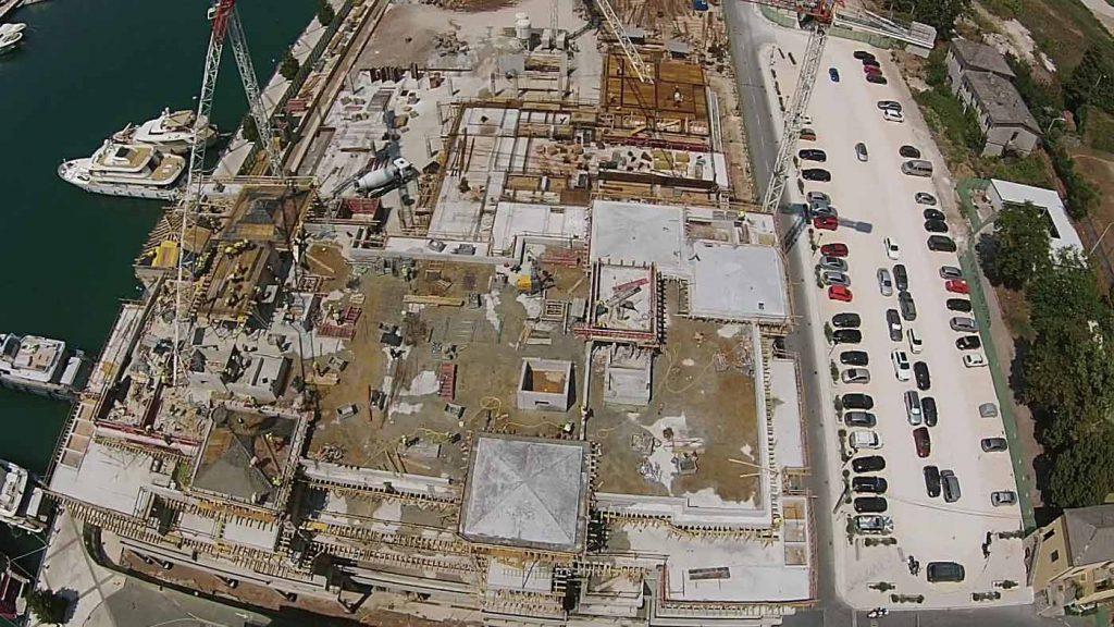 Izgled terena na po;etku gradnje