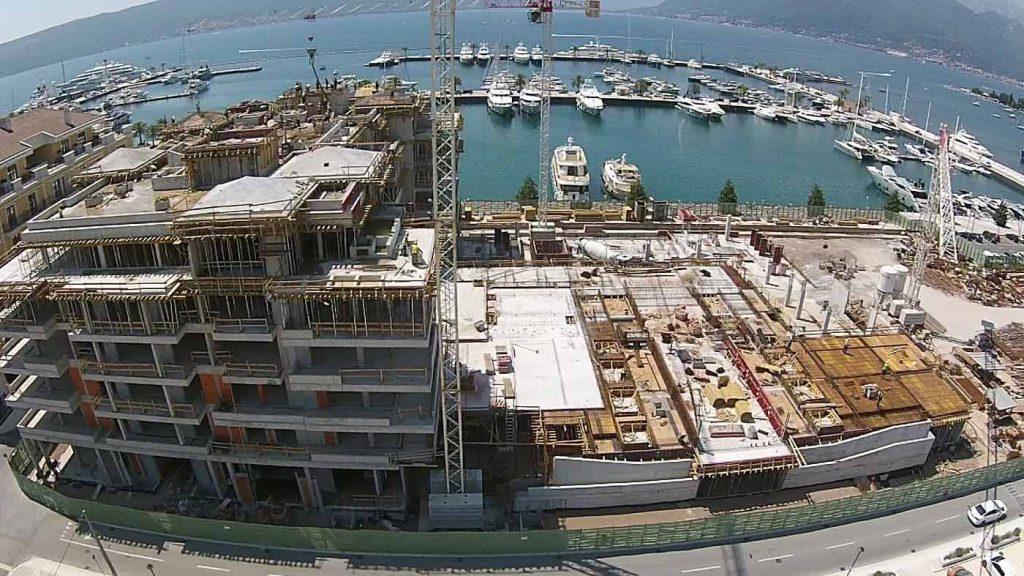 Prikaz izgradnje i same marine
