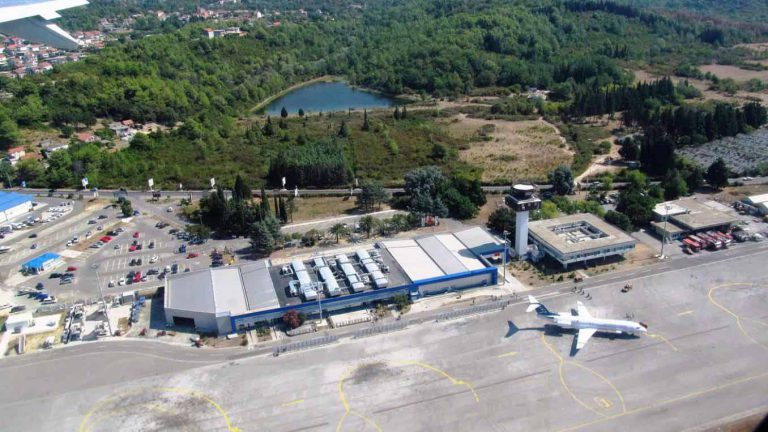 Reconstruction works for the General Aviation Platform at the Airport Tivat