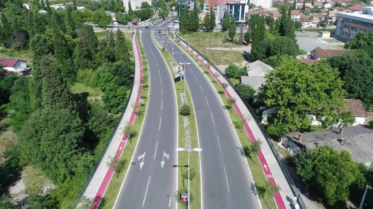 Works on the construction of South Boulevard – Phase II, in Podgorica