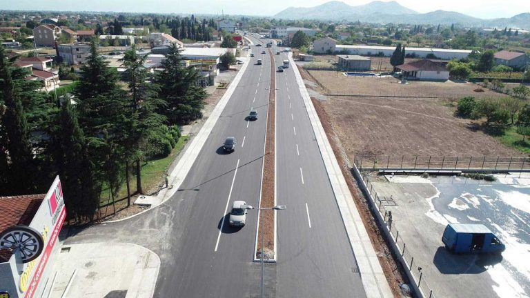 Reconstruction works on the main road M-2, intersection with the Golubovci bypass