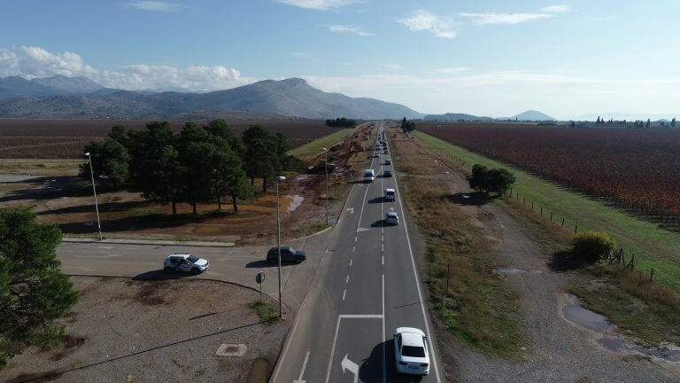 Works on the reconstruction of the main road Podgorica – Tuzi