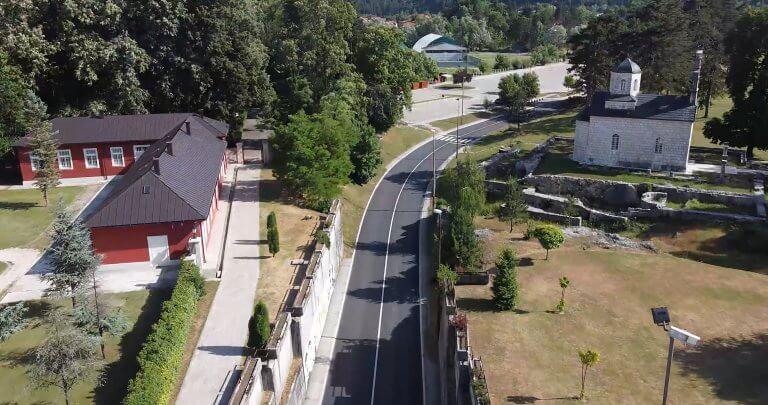 Road reconstruction works, Cetinje